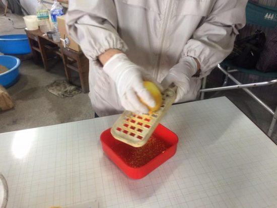 レモンの皮を廃油と混ぜて石鹸に